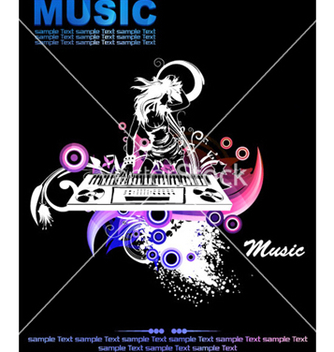 Free colorful concert poster vector - Free vector #264339