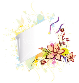 Free floral with shopping tag vector - Free vector #264409
