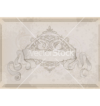 Free ribbon with floral vector - vector gratuit #264739