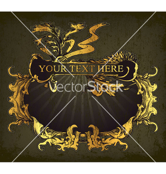 Free vintage gold frame vector - Kostenloses vector #264919