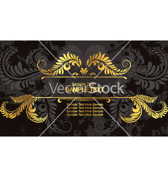 Free vintage gold frame vector - Kostenloses vector #265339