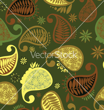Free paisley seamless pattern vector - Kostenloses vector #265409