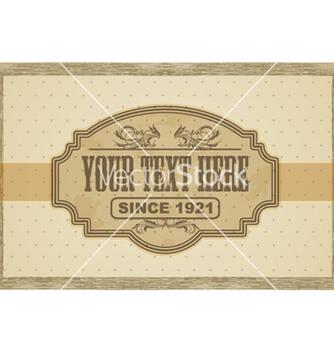 Free vintage label vector - бесплатный vector #266079