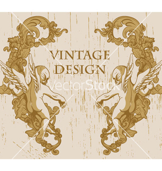 Free grunge floral frame with angels vector - Free vector #266099