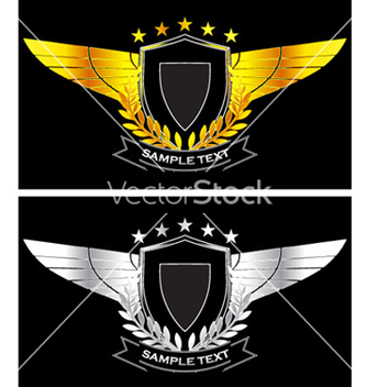 Free gold and silver vintage emblem vector - Free vector #266299