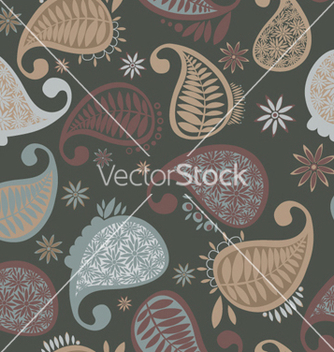 Free paisley seamless pattern vector - Kostenloses vector #266399