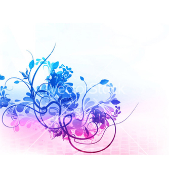 Free watercolor floral background vector - Free vector #266419
