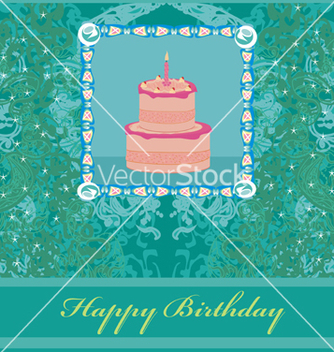 Free happy birthday card vector - бесплатный vector #266729