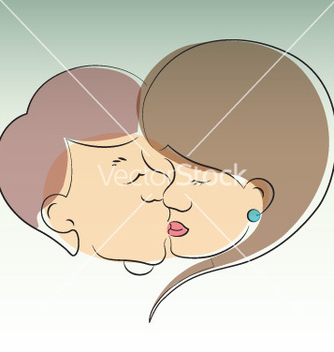 Free couple in love kissing vector - Free vector #266739