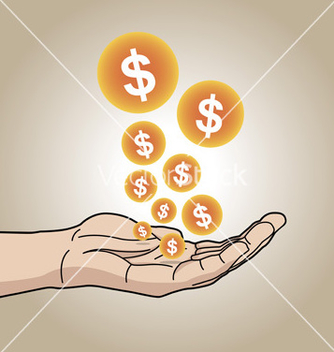 Free dollars on hand vector - vector #266749 gratis
