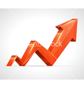 Free 3d growth arrow graph vector - Free vector #266759