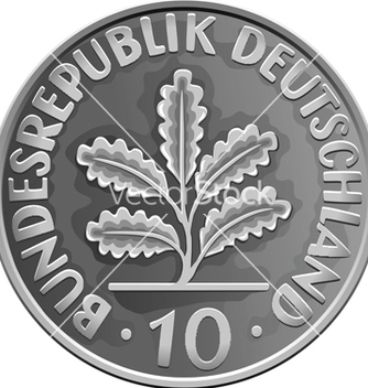 Free german money silver coin vector - Kostenloses vector #266809