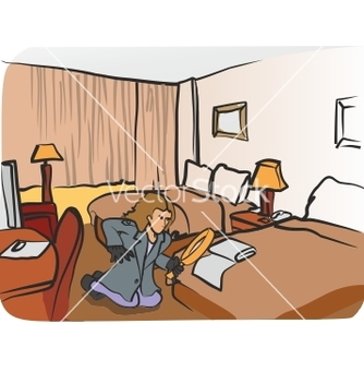 Free hotel room vector - vector gratuit #266849