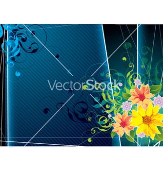Free retro floral vector - Free vector #266929