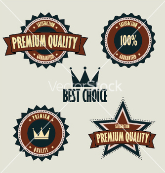Free premium quality labels best choice vector - Free vector #266969