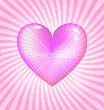Free pink glassy heart vector - бесплатный vector #267039