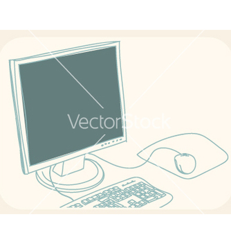 Free computer drawing vector - бесплатный vector #267059