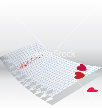 Free love letter paper vector - Free vector #267099