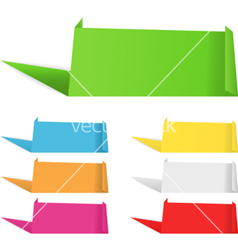 Free origami banners vector - vector gratuit #267309