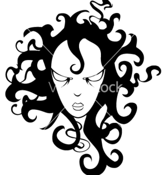 Free cartoon girl with curly hair vector - Kostenloses vector #267419