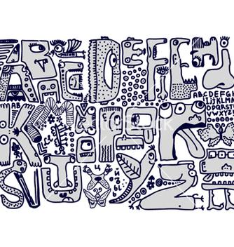 Free alphabet sketch vector - бесплатный vector #267689