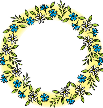 Free wreath of wild flowers vector - Free vector #267759
