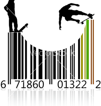 Free barcode skaters vector - vector gratuit #267789