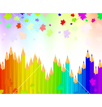 Free rainbow pencils vector - Free vector #267979
