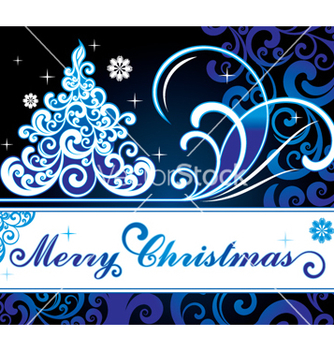 Free christmas card vector - Free vector #268179