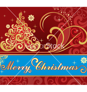 Free christmas card vector - бесплатный vector #268219