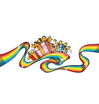 Free rainbow giftwrap vector - Kostenloses vector #268739
