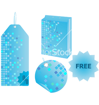 Free shopping objects with mosaic design vector - vector gratuit #268759
