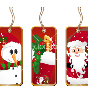 Free christmas tags vector - Free vector #268769