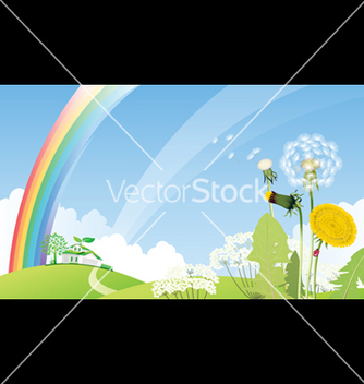 Free country landscape with house vector - vector gratuit #268829