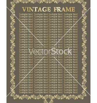 Free vintage frame vector - Free vector #268859