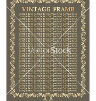 Free vintage frame vector - бесплатный vector #268859