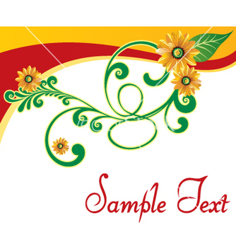 Free floral template vector - Free vector #269279