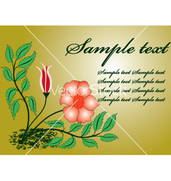 Free floral template vector - Free vector #269419
