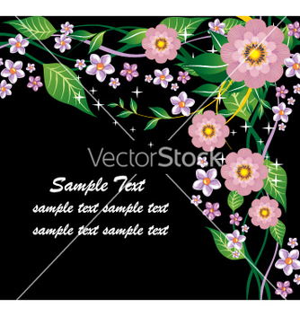 Free floral document vector - бесплатный vector #269579