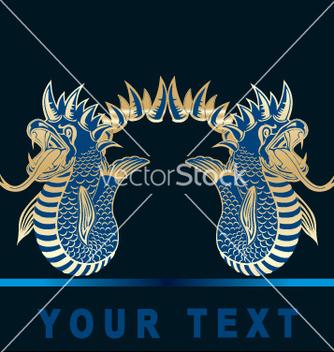Free golden dragon vector - Free vector #269609