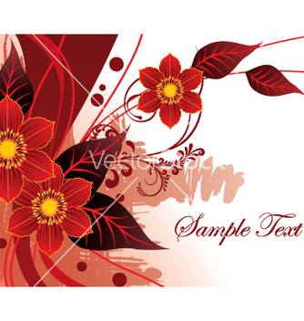 Free floral document vector - бесплатный vector #269799