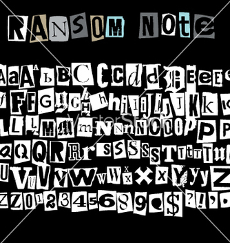 Free ransom note vector - Free vector #269939