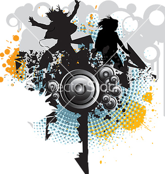 Free people dancing vector - Free vector #270229