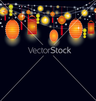 Free lantern sky vector - vector #270309 gratis
