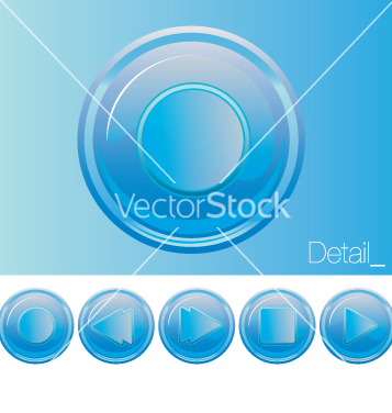 Free media buttons vector - Free vector #270649