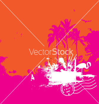 Free tropical island vintage style vector - Free vector #270679