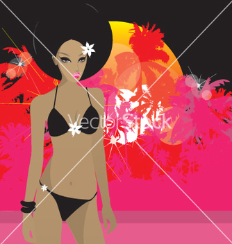 Free tropical princess vector - vector gratuit #270709