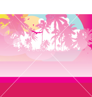 Free tropical paradise vector - Free vector #270739
