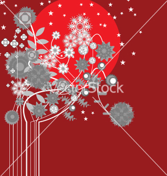 Free midnight flowers vector - Free vector #270889