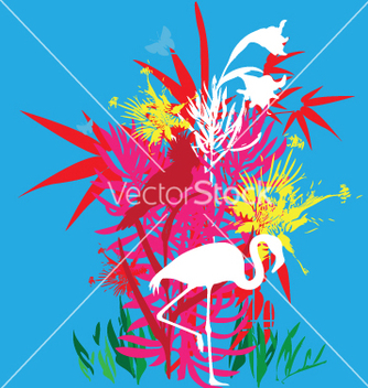 Free tropical flowers vector - Free vector #271019